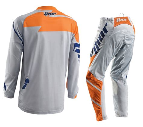 thor motocross jersey new thor mx gear set phase vented grey orange motocross