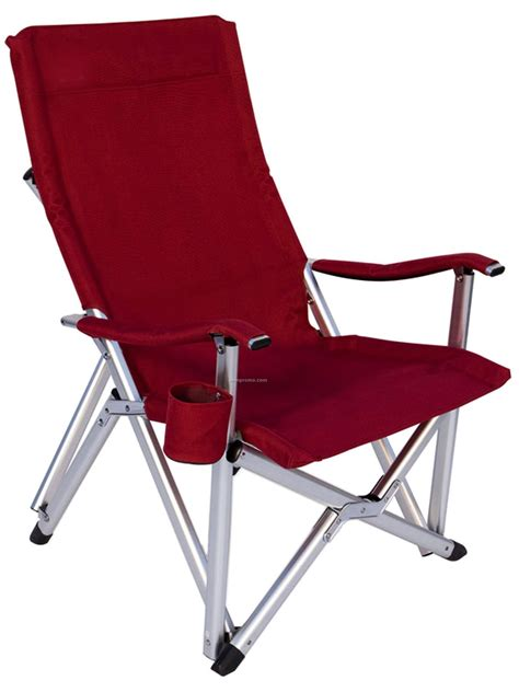 imported deluxe folding high back aluminum arm chair w 375