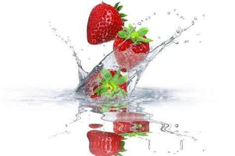 Strawberry Splash Picture by Strawberry Splash Water Drops Fresh Berries Spray Hd Wallpaper