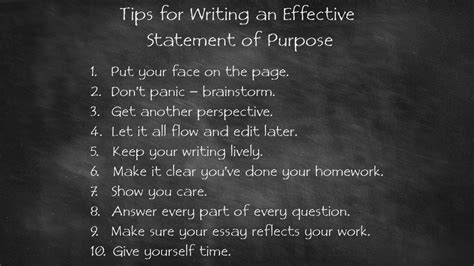 tips for writing an effective 10 tips for writing an effective statement of purpose