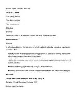 Entry Level Teaching Resume by Resume 9 Free Sle Exle Format Free Premium Templates