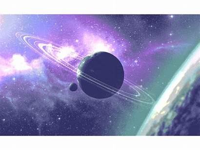 Cos Dribbble Space Galaxy Moss Animation 2d