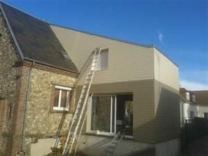 Photos Agrandissement Maison : agrandissement de maison en bois avec bardage de couleurs ~ Melissatoandfro.com Idées de Décoration