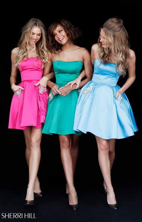 sherri hill  short ball gown dress  beaded
