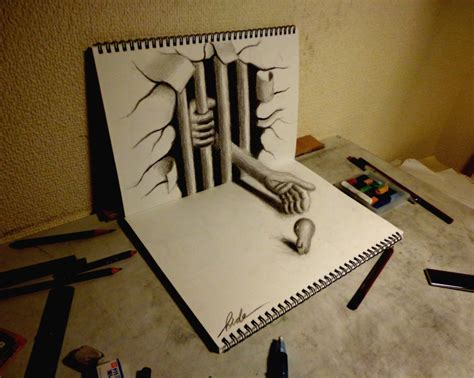 3d Zeichnen by 25 3d Drawings On Paper Entertainmentmesh