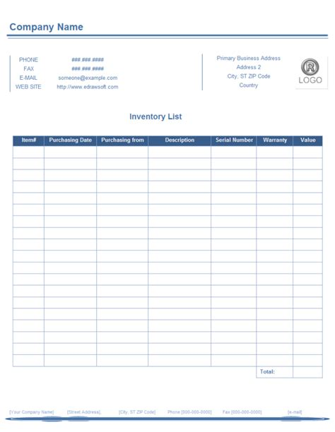 inventory list form  inventory list form templates