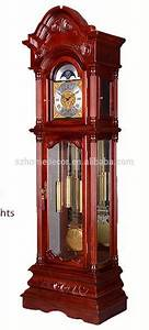 China German Hermle Grandfather Clock With Pendulum And 3