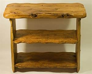 African, Handcrafted, Wooden, Table, Top, Shelves, By, Kwetu