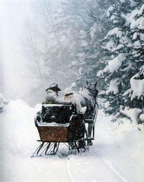 Adam and Sue Ann on their sleigh ride : ) Winter scenes