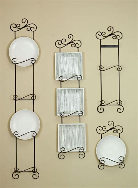 vertical plate hangers arabesque vertical plate racks  tier plate racks diy wall decor
