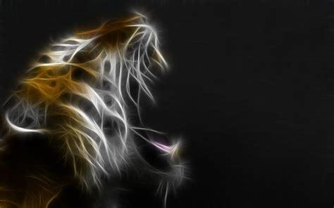 Fractal Animal Wallpaper - fractal animal tiger fractal wallpaper by