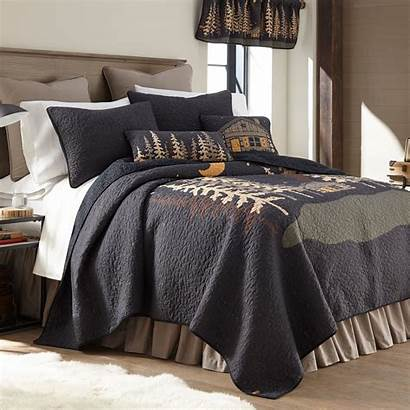 Cabin Quilt Twin Donna Moonlit Quilts Midnight