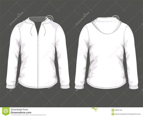 hoodie template white hoodie templates stock illustration image of skate
