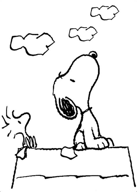 snoopy coloring pages free printable snoopy coloring pages for