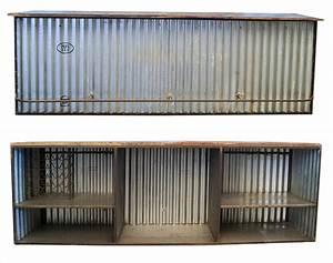 Bar Style Industriel : meubles ou comptoir bar style industriel en t le ondulee ~ Teatrodelosmanantiales.com Idées de Décoration