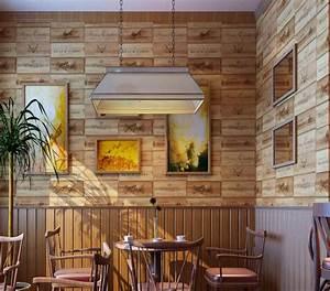 Aliexpress com : Buy Vinyl PVC Wood box wallpaper 3D