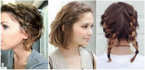 Peinados para cabello corto en trenzas