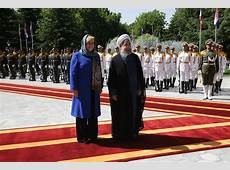 Photos Rouhani officially welcomes Croatian president
