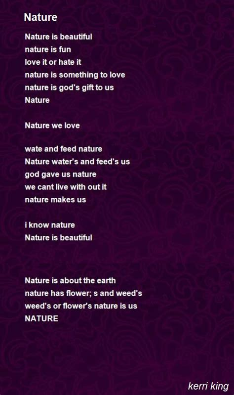 A Poem About Nature In English Poemsromco