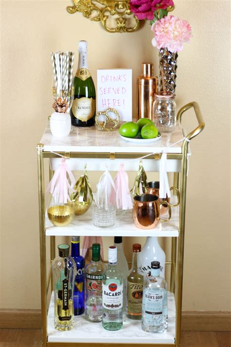 ikea hack gold marble bar cart twinspiration