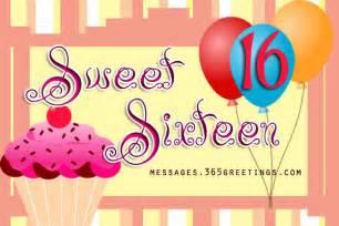 Happy Sweet 16 Birthday Wishes