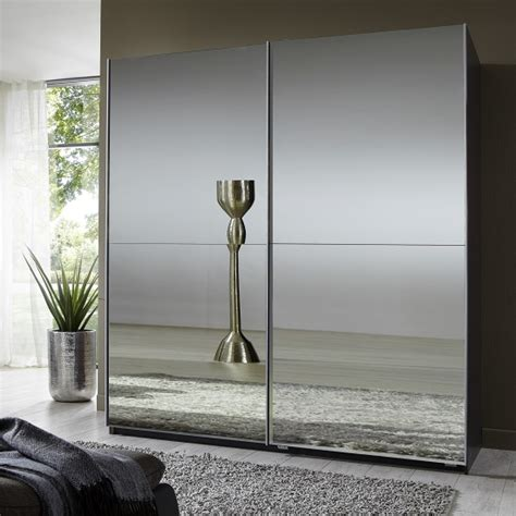 Small Mirrored Wardrobe by Quest Mirrored Sliding Wardrobe Small In Lava With 2 Doors