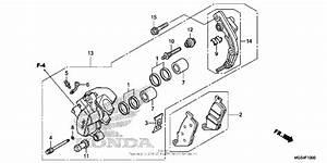 Front Brake Caliper  1  For 2012 Honda Nc700