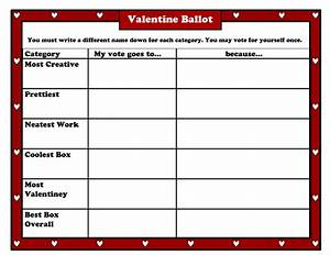the valentine box measures up scholastic With voting slips template