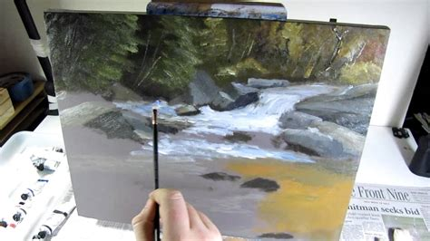 Fall Waterfall Speed Painting