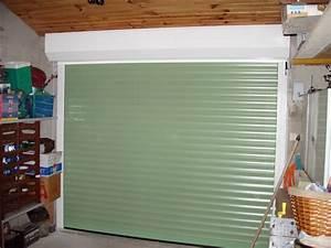 Volet Roulant Garage : potre de garage vert ral 6021 type volet roulant alu ~ Melissatoandfro.com Idées de Décoration
