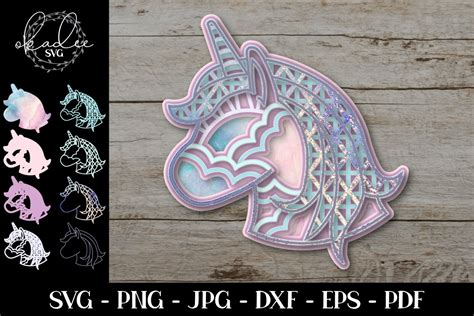 Free layered svg file for 3d layered owl mandala (available for the vips, become a vip member by entering your name and address below). 3D Layered Mandala, Unicorn Mandala, Unicorn SVG, Cut File ...