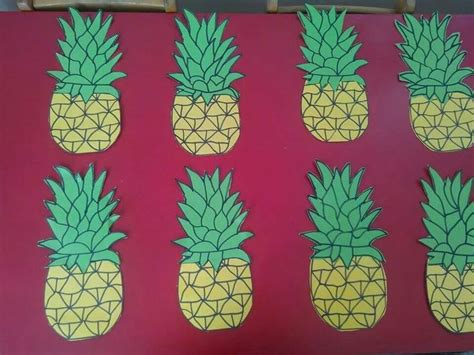 crafts actvities and worksheets for preschool toddler and 590 | pineapple craft