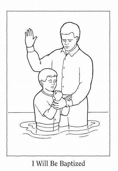 Lds Coloring Pages Primary Baptism Baptized Sacrament