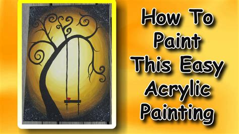 How To Paint An Easy Acrylic Painting For Beginners Youtube