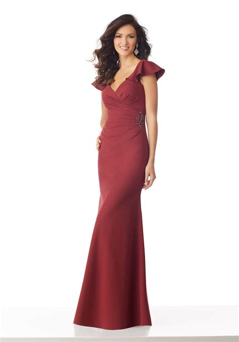 matte scuba special occasion dress  beading style