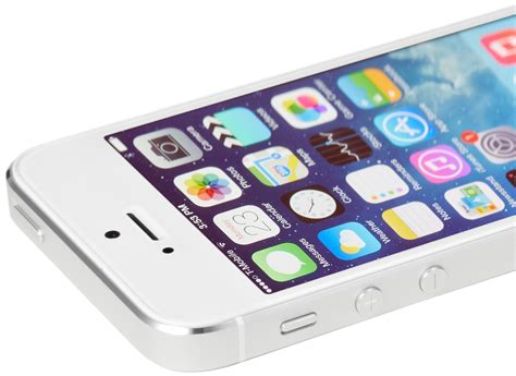 apple iphone 5s apple iphone 5s silver 16 gb with ios7 time hd