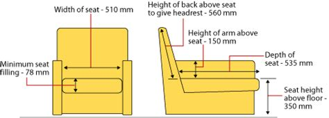 dimensions of a lounge chair