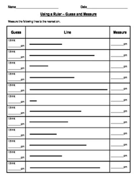 measurement worksheets for by clare haagensen teachers pay teachers