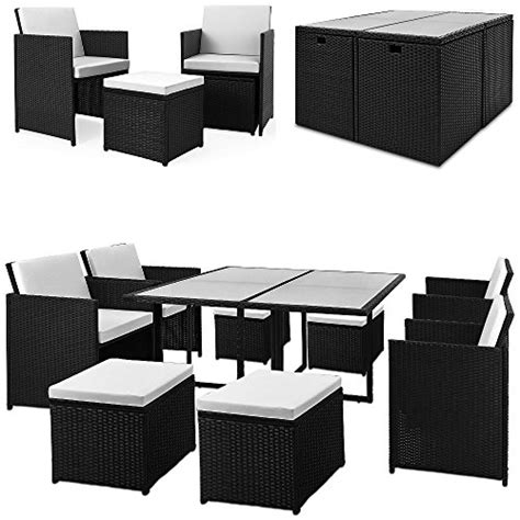 cube poly rattan garden furniture set 21 pcs table