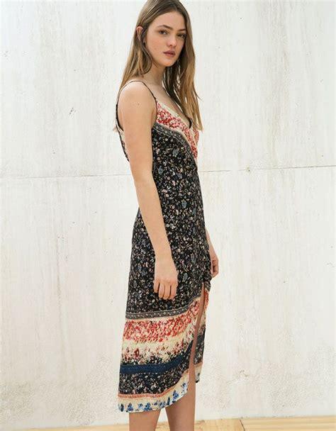 vestidos mujer mujer bershka mexico vestidos de mujer vestido estampado vestidos