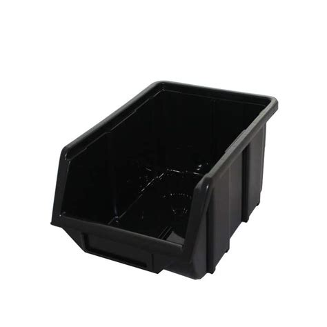 black recycled plastic parts bin fb fil