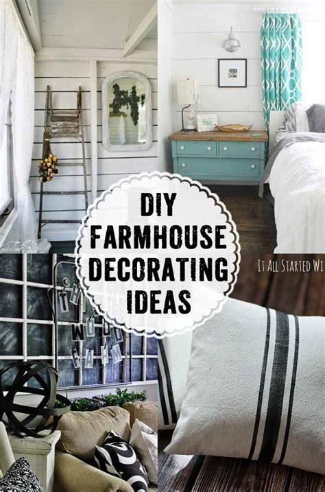 farmhouse style decorating inspiration  diy