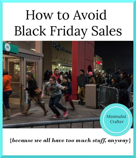How To Avoid Buying Things On Black Friday Minimalist