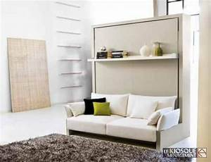 Lit Escamotable Plafond : lit escamotable avec banquette 1http www ~ Premium-room.com Idées de Décoration
