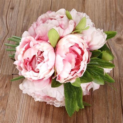 diy bridal wedding party bouquet posy silk flowers