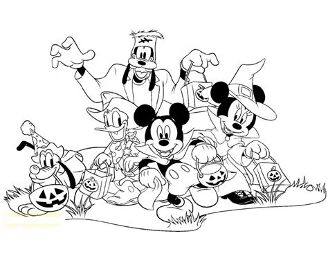 mickey mouse halloween coloring pages  images