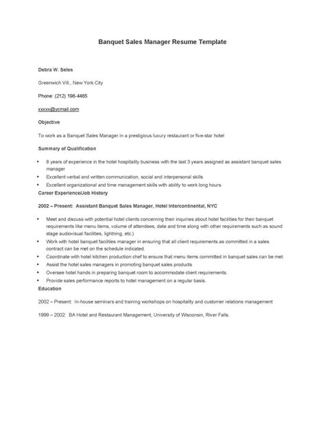 Sales Manager Resume Templates Word by Banquet Sales Manager Resume Template Pdf Format E