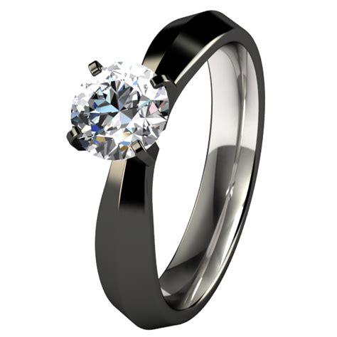 s black titanium rings wedding promise