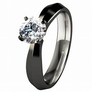 women s black titanium diamond rings wedding promise With black wedding rings womens