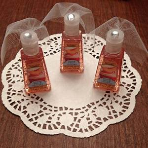 hand sanitizer with little tule veils for bridal shower With wedding shower favor ideas